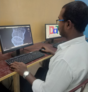 student while using autocad