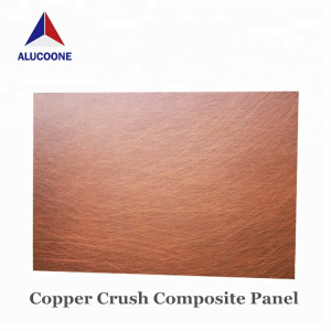 Alucoone Copper Brushed Composite Panel Copper Panels