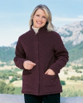 Moleskin Quilted Jacket in Aubergine 111 AU