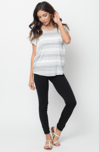 striped pocket tee