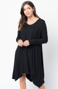 Buy Now Back Raglan Draped Dress Online $38 -@caralase.com
