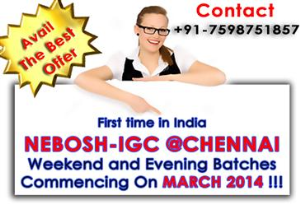 Nebosh IGC, IOSH and  ADOSHEM Courses
