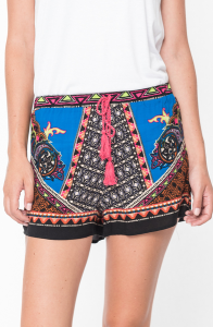 ladies elastic waist shorts