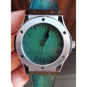 Shop Hublot Classic Fusion Berluti Green Ladies Watch