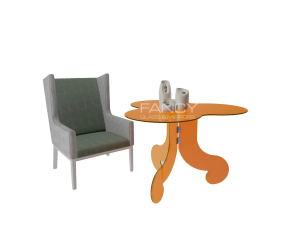 POLLUX GLASS DINING TABLE