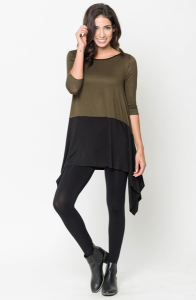 Buy Now Two Tone Jersey Tunic Online $20 -@caralase.com