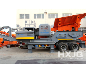 HXJQ Cement Gypsum Coal Rock Mobile Hammer Crusher
