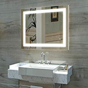 LED Lighted Fogless Wall-Mounted Makeup Mirror