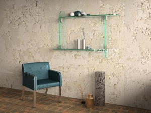ATLANTA WALL-MOUNTED GLASS SHELF