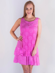 Wholesale Embroidered Mesh Frill Dress