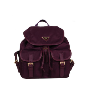 Prada BZ0030 Nylon Backpack In Burgundy