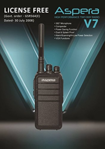 ASPERA V7 License Free Walkie Talkie