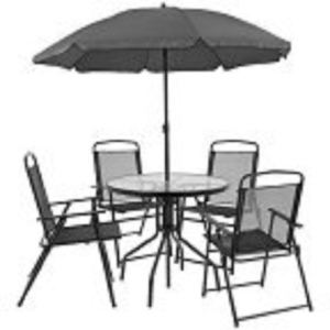 Nantucket 6 Piece Patio Garden Set With Table