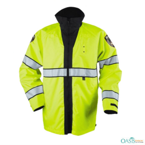 Lime Green Police Reversible Rain Jacket