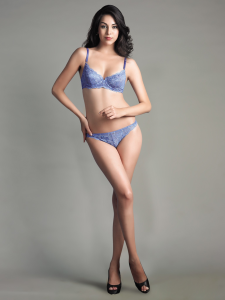 Floral Stretch lace Underwired bra and Panty Set