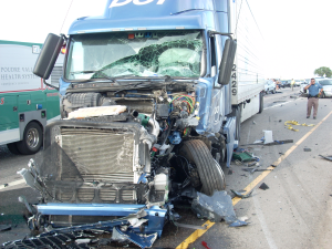 18 Wheeler that Hit our Cients