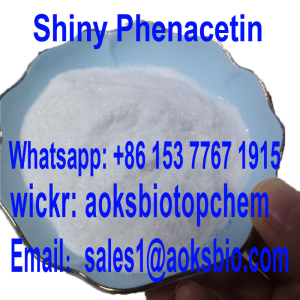 99% high purity Pure Shiny Phenacetin Fluffy Powder Turns White Crystal After Being Cooked