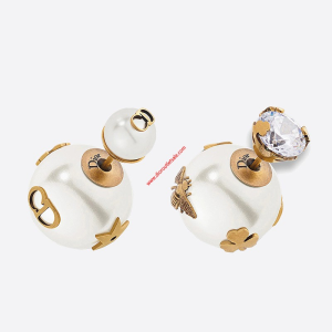 Dior Tribales Multi-charm Earrings Gold