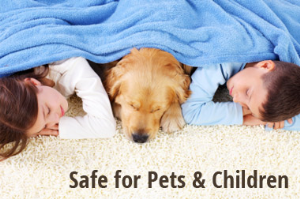 Safe for pets, children, and the environment.