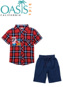 Wholesale Boys' Fashion Shirts And Shorts Suppliers