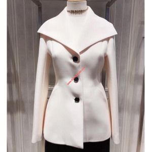 Dior Bar Jacket In Wool And Silk White