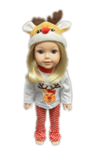 Rudoplh Pjs for American Girl Dolls Wellie Wishers