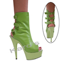 Ankle Boot Lime Green Leather