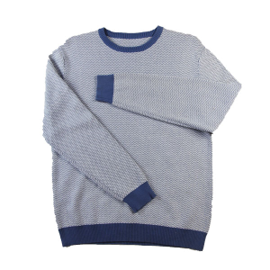 2015 Fall Jacquard Wave Pullover Classic Contrast Knitwear