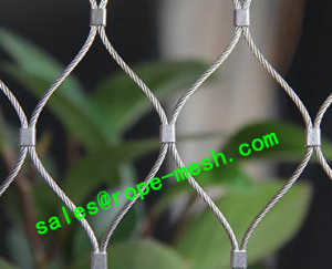 stainless steel ferruled rope mesh