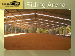 Arenas or Roof Only Sheds