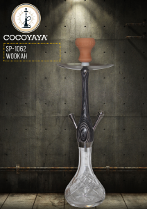 COCOYAYA Wookah 21 Inch Medium Glass Handmade Sheesha Hookah