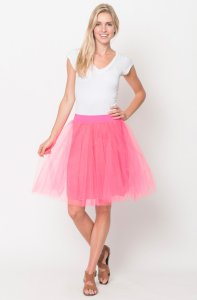 pink tulle lined skirt