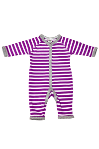 ORGANIC COTTON KNITTED BABY LONG RONPER