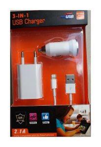 3 IN 1 USB Charger SR-1702
