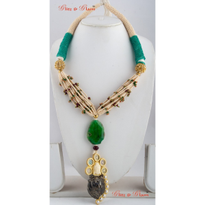 Necklaces with Burmese Green