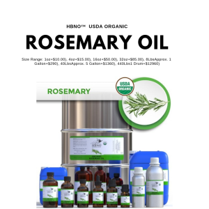 Shop Now! HBNO™ Organic Rosemary Essential Oil