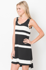 sleeveless striped dress