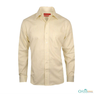 Yellow Striped Summer Formal Shirt