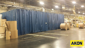 Warehouse Dust Control Curtains