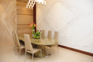 DeCasa Marble | Forest Green stone base