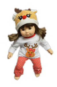 Rudoplh Holiday Pjs For American Girl Dolls Bitty Twins And Bitty Baby