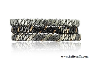 Classic Helix Cuff in Niobium and Silver