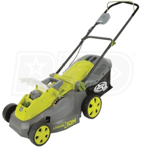 "Sun Joe iON16LM (16"") 40-Volt Lithium-Ion Cordless Push Lawn Mower"