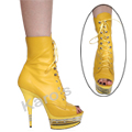 Open Toe Ankle Boot Yellow LA