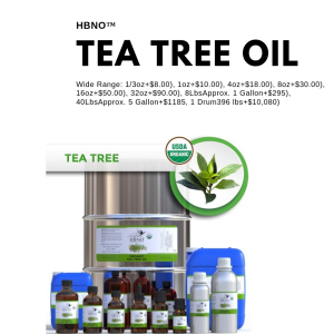 HBNO™ Organic Tea Tree Essential Oil – 100% Pure & Natural