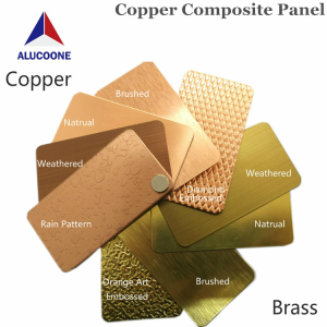 Alucoone Art Embossed Copper Composite Panel Supplier