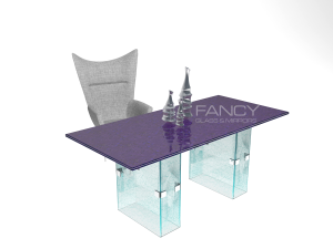 LUCENT GLASS DINING TABLE