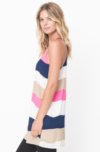 colorblock tank dress