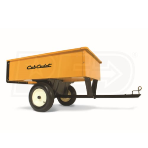 Cub Cadet 17 Cu Ft Heavy Duty Steel Utility Dump Cart