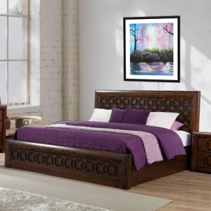 Solid Wood Chocolic King Size Bed